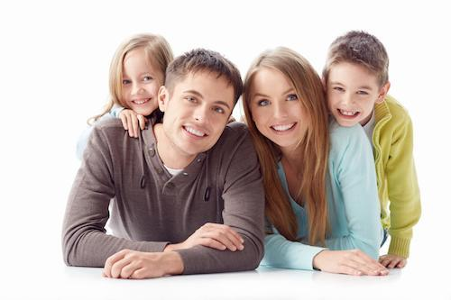 man with dental fillings with his family in alderley qld